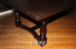 10 -12 seater Large Chunky Dining Table, Thick 54mm Solid Oak top, Any stain 3.2m