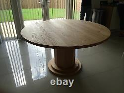 1500mm / 150cm SOLID OAK ROUND PEDESTAL LEG TABLE HAND CRAFTED MADE TO ORDER