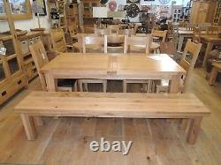 210cm Solid Oak Bench, Very Sturdy, Heavy Solid Item Op0210