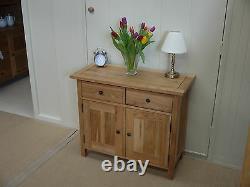 ASHLEY MILTON SOLID OAK SMALL SIDEBOARD 100% Solid Oak RRP £500
