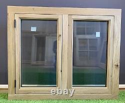 Air Dried Solid Oak Barn Window 1200mm x 1000mm Green Oak Timber Frame Cottage
