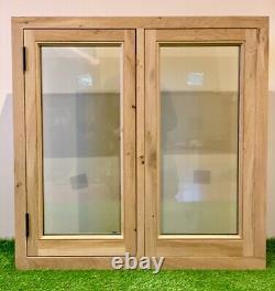 Air Dried Solid Oak Barn Window 900mm x 900mm Green Oak Timber Frame Building