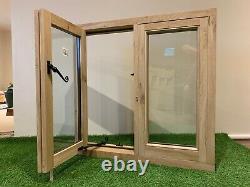 Air Dried Solid Oak Window Handcrafted Green Oak Building Garage 900mm x 750mm