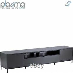 Alphason Chaplin 2000 TV Stand for TVs up to 90 Charcoal