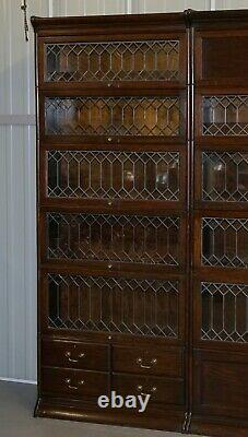 Angus Scotland & England Suite Of 3 Large Gunn Library Legal Stacking Bookcases