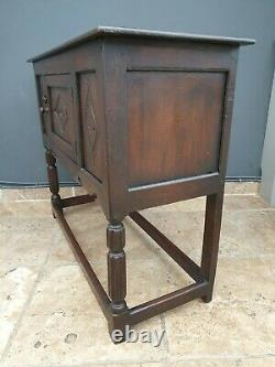 Antique style solid Oak Credence Cupboard / side / hall table / sideboard