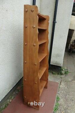 Arts & Crafts Oak / Beech Bookcase, Book Shelf, Waterfall Design, Quality Item