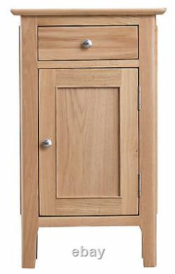 Bergen Light Oak Small 1 Door 1 Drawer Cupboard / Bedside Scandanavian Retro