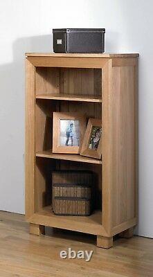 Bevel Small Bookcase Oak / Solid Wood Cabinet / Book Shelf Storage / Solid Oak