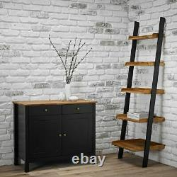 Black Solid Oiled Oak Wooden Dining Kitchen Bench