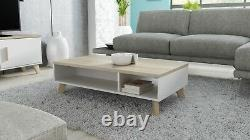 Bmf Scandi New Rectangular Scandinavian Nordic Style Coffee Table 110cm X 60cm