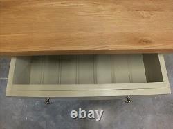 Buckingham Painted Narrow 2 Door Sideboard Solid Oak Top- Bespoke- French Gray