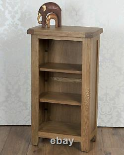 CD DVD Bookcase Storage Media Unit in Solid Oak Pine Dorset Country Chunky