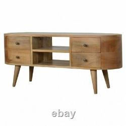Danish Design Art Deco Style TV Cabinet Media Unit Sideboard In Oakis Wood Solid