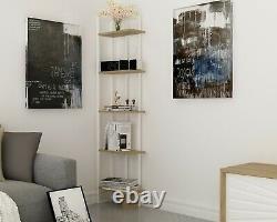 Decorotika Alice 5-Shelf Industrial Corner Unit Bookcase Bookshelf Shelving Unit