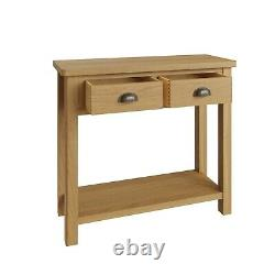 Dovedale Oak Console Table / Rustic Solid Hallway Table / Wooden Cabinet