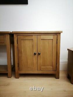 Dovedale Oak Mini Sideboard / Rustic Solid Wood Cupboard / Wooden Cabinet