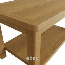 Dovedale Oak Small Coffee Table / Rustic Solid Wood Low Occasional Table