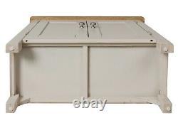 Dovedale Truffle Grey Small Sideboard / Painted Oak Wood Cupboard / Cabinet