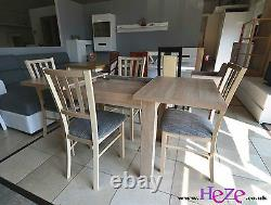 Extending table, 4 wooden chairs, sold separately or as a set, great size! SMarP