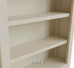 Grey Small Bookcase / Painted Oak Low Wide Book Shelf / Dovedale Mini Bookshelf