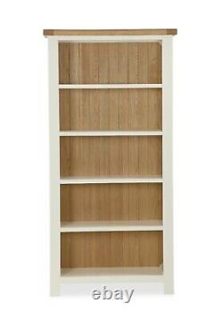 Hampshire Cream Painted Large Wide Bookcase / Country Bookshelf / Shelving Unit