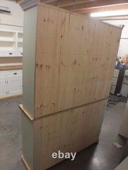 Hampshire Painted 3 Door Open Top Display Dresser- Solid Oak Top- Bespoke