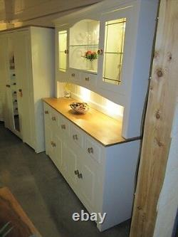 Hampshire Painted 4 Door 5 Drawer Display Dresser Hand Made Solid Pine Solid Oak