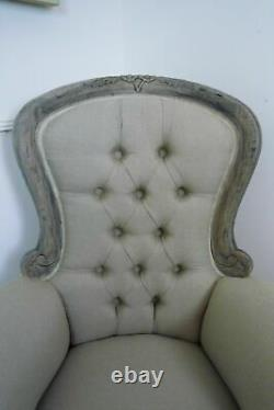 Handmade Grandfather Chair In A Weathered Oak Finish Armchair