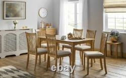 Ibsen Extending Oak 6 Seat Dining Set Option Table and Chairs 2 Man Home Del