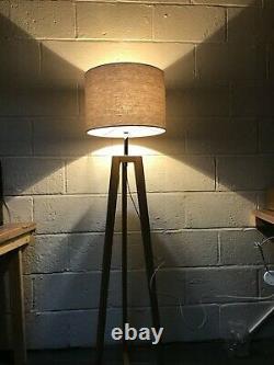 John Lewis Brace Floor Lamp Free Standing Tall Shade Light Lighting Modern Oak
