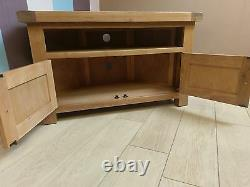 Kingsford Oak Corner TV Unit / Rustic Media Cabinet / Solid Entertainment Unit