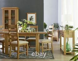 Kingsford Solid Oak Small 2 Door 1 Drawer Sideboard / Cupboard 85cm 35cm 80cm