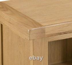 Kingsford Solid Oak Small Narrow Bookcase / Rustic Mini Bookshelf / Storage Unit