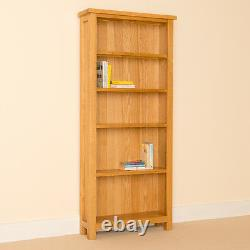 Large Oak Bookcase Shelving Unit 5 Shelves Newlyn Solid Wood Furniture Storage