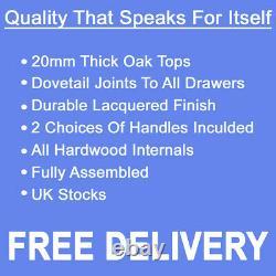 Large Oak Sideboard Light Oak Storage Cupboard / Solid Wood / Dresser NEW