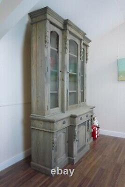 Large Rustic Bookcase In A Weathered Oak Finish Large Dresser/Bookcase