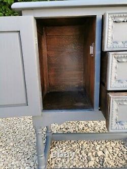 Lightly Distressed Solid Oak Old Charm Hallway/bathroom/cupboard & Drawers F&b