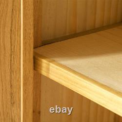 London Oak Small Storage Cupboard Light Solid Wood 2 Door Hallway Cabinet Unit