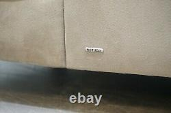 Luxury Natuzzi Italy Chesterfield Chaise Lounge With Velvet Upholstery