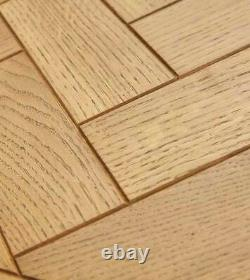 NEW IDEAL HOME SOLID OAK WOOD FRAME PARQUET DINING OR KITCHEN TABLE 150cm x 85cm