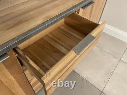 NEW Oak Furniture Land Brooklyn Sideboard Solid Wood & Metal COLLECT BERKSHIRE