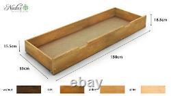 NODAX New Solid Wooden Pine Underbed Storage Walnut, Oak, Alder Pine Colour