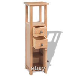 OAK Corner Cabinet Solid Wooden Storage Cupboard Bedroom Bathroom Decor Brown