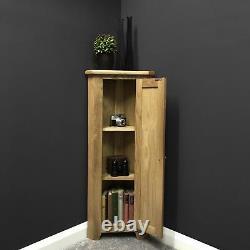 Oak Corner 1 Door Cupboard With Shelf Corner Storage Narrow Wood Cabinet Grange
