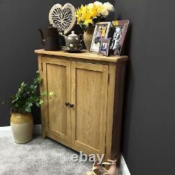 Oak Corner Cupboard With Shelf / Solid Wood Storage Cabinet Corner Grange