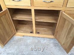Oak Furniture Land Natural Oak Bevel Sideboard. Needs a rub down and polish