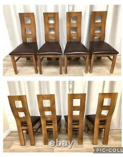 Oak Furniture Land Solid Oak Extendable Dining Table & 4 Solid Oak Chairs Rustic