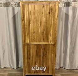 Oak Furniture Land Solid Oak Tall Bookcase Unit Shelves Drawer French Farmhouse