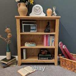 Oak Small Bookcase / Light Oak Low Bookshelves Solid Wood Shelving / Harvard
